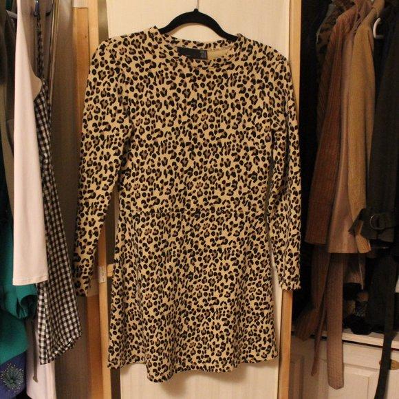 Zara Mini Leopard Print Dress